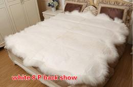 Argentina 8P 185X200CM Manta de cama 100% pura de lana de oveja Suministro