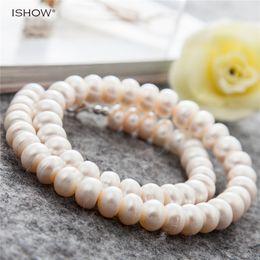 2019 knopfperlenkette Frauen Luxus Button Form Süßwasser Perlenkette Perlen Hochzeit Schmuck Silber Überzogene Kurze Kette Halsband Halsketten Collares günstig knopfperlenkette