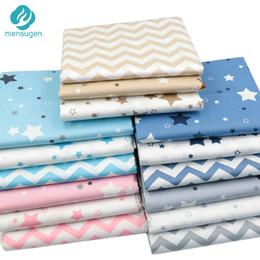 chevron baby decken Rabatt Mensugen Stars Chevron 100% Twill Baumwollgewebe von Metern für Patchwork Quilten Baby Bettwäsche Decke Nähen Tuch Material
