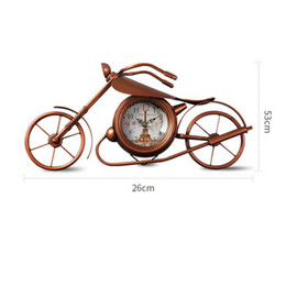 Wholesale Clock Table Living Room - Creative Desk Clock European Bedroom Living Room Clock Decoration Motorcycle Mute Ornaments Decorative Desktop Table