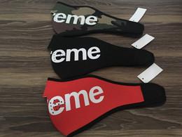 Canada Vente chaude 3 couleur Unisexe hommes femmes mode masque de masque de marée marque sup 14AW masque avec étiquette Top qualité Rouge Noir Armée masque vert Offre