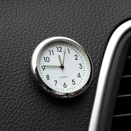 ornamenti orologi Sconti Car Ornament Automotive Clock Auto Watch Automobiles Interior Decoration Stick-On Clock Ornamenti Accessori Regali di Natale
