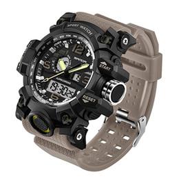 Wholesale Famous Electronics - 2018 Men's Military Sport Watch Men Top Brand Luxury Famous Electronic LED Digital Wrist Watch Male Relogio Masculino SD742