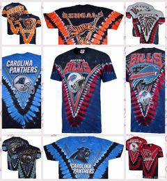 Cincinnati Bengals Atlanta Falcons Chicago Bears Carolina Panthers Buffalo Bills Majestoso Baltimore Corvos Atlanta Falcons Tie-Dye T-Shirt de Fornecedores de camisa panther t