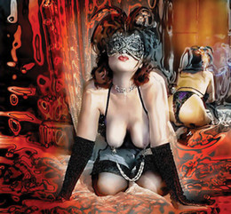 Ragazze nude di arte moderna online-Art Nude Maschera della ragazza, pittura a olio di stampa di alta qualità di riproduzione Giclee su tela Modern Home Art Decor W366