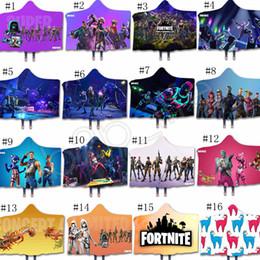 Fortnite Manto Cobertores 3D Fortnite Batalha Royale Impresso Sherpa Cobertor Com Capuz Crianças Adultos Inverno Plush Cape Toalha de Presente de Natal GGA1296