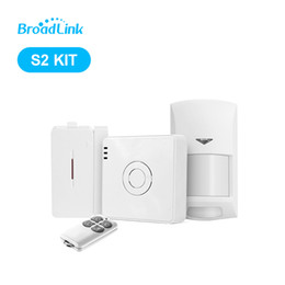 Wholesale Smart Alarm Home Security - New Arrival Broadlink S2-HUB Security Alarm System Kit Detector Motion Sensor Remote Control For Smart Home Automation Anti-thef