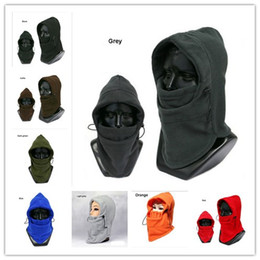 Wholesale Red Riding Hood - 8 colors Winter plus velvet padded warm riding hood men and women ear protection face Hat snow caps wool woolen hats
