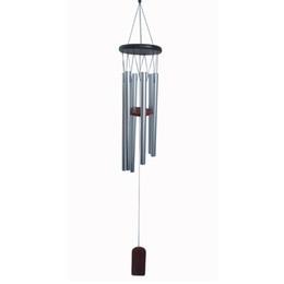 Canada 1 PCS Suspendu Antique Incroyable Grace Profond Résonant 6 Tubes De Cuivre Argent Vent Carillons Chapel Bells WindChime cheap deep decoration Offre