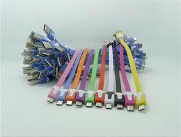 20cm kurze bunte flache Nudel Micro USB Datenkabel Ladegerät Ladekabel für Android-Handys von Fabrikanten
