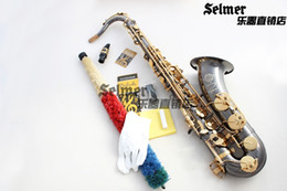 Wholesale Selmer 54 - Wholesale-Tenor Saxophone French Selmer 54 B Top Musical Instrument Sax Black Nickel plated Gold kay saxophone accessories Professional