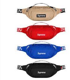 Argentina moda 18ss nylon bolso de la cintura paquetes de cintura rojo negro azul Caqui en stock Suministro