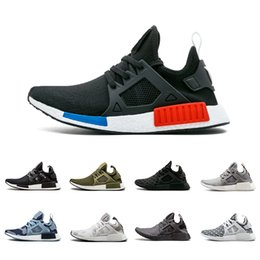 Wholesale Dark Pack - Olive OG NMD XR1 Running Shoes Mastermind Japan Skull Fall green Camo Glitch Black White Blue zebra Pack men women sports shoes 36-45