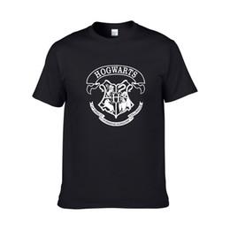uomini galleggianti corti Sconti 2018 Nuovi uomini Moda 3D Galaxy HOGWARTS T-shirt Harry Potter Hogwarts Doni della Morte T-Shirt Manica corta Top Magliette