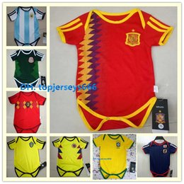d8767a085 Spain Baby soccer jerseys 2018 World Cup CHICHARITO DE BRUYNE MBAPPE ISCO  JAMES 6-18 month baby Jumpsuit football jersey shirt