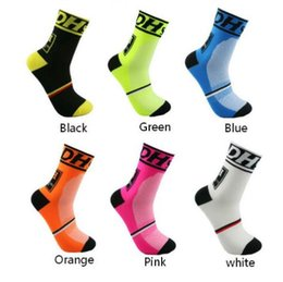 Wholesale Tennis Bike - 2018 New Men's women's Cycling Socks Crew Bike bicycle Sports Footwear 6 Colors Yoga Soccer France Euro Cycling Socks