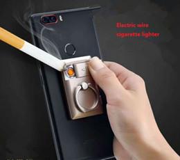 Soporte perezoso para el teléfono móvil soporte del anillo del encendedor de cigarrillos 360 grados del anillo hebilla encendedor Carga USB más ligero desde fabricantes