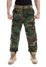 пейнтбольные площадки Скидка Camouflage tactical  clothing paintball army cargo pants combat trousers multicam militar tactical pants with knee pads