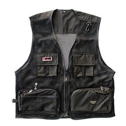 giacche da giubbotto Sconti New Fashion Brand Vest Men Tactical Vest Forze speciali SWAT Director Fisherman Mesh nero asciugatura rapida vestiti