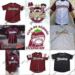 stitch logo jerseys Promo Codes - Tomateros de Culiacan 2017-18 Campeones Jersey 100% Stitched Embroidery Logos Baseball Jerseys Custom Any Name Any Number Free Shipping