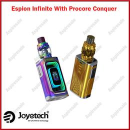 Wholesale electronic cigarettes joyetech - Original Joyetech ESPION Infinite Kit With 5.5ml ProCore Conquer Atomizer 230w 0.4ohm ProCA 0.15ohm ProCD Electronic Cigarette