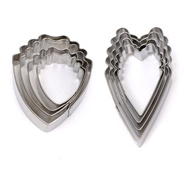 Wholesale Peony Cake - Wholesale- Cake Tool 1Set 4pcs Stainless Steel Heart Peony Flower Biscuit Cake Cookie Cutters Baking Mould Useful Wholesale