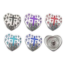 Wholesale 23mm Button - High quality w047 18mm 23mm rhinestone metal snap button for Bracelet Necklace Jewelry For Women Fashion accessorie
