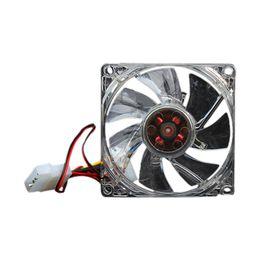 Cajas de pc silenciosas online-Quiet Desktop PC Case Fan Cooling 4 LED Nuevo 80mm 88 QJY99
