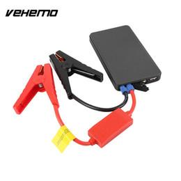 baterías portátiles 12v Rebajas Car Jump Starter Cargador de batería 12V Vehículo Portable Black Ultra-Thin Emergency