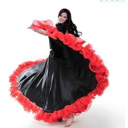 weißer perlenbikini Rabatt Spanisch Bullfight Festival Performance Tanz Flamenco Rock für Frauen Highq Qualität Flame Floral Plus Size Ballroom Frauen Rock