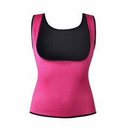 Wholesale Slimming Body Clothes - Cami Shaper Sweat Women Neoprene Body Shaper Slimming Waist Slim Trainer Vest T-shirt Women Clothing shapewear