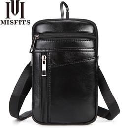 2020 маленькие крючки Men's Fashion Waist Packs Genuine Leather Hook Belt Buckle Shoulder Messenger Fanny Pack Small Hip Bag Man Crossbody Phone Pouch дешево маленькие крючки