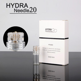Wholesale mesotherapy needling - Hydra needle 20 pins Micro Needle Derma Stamp Aqua Micro Channel Mesotherapy Meso Roller Gold Needle Fine Touch System
