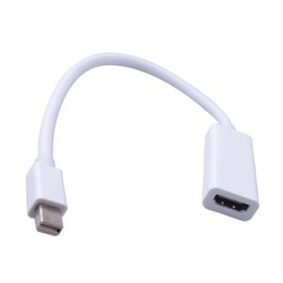 hdmi port macbook air Rebajas Elistooop Mini DP a HDMI Cable adaptador Mini DisplayPort Thunderbolt Puerto Convertidor para Macbook Pro Air Proyector Cámara TV PC