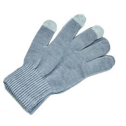 Guantes de cachemira para mujer online-Womens Mens Winter Cashmere Knit Pantalla táctil Dedos Pantalla Warm Fleece Guantes de punto lana color sólido guantes versátiles