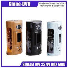 Wholesale temperature controlled - Preorder!! Vape Mod SIGELEI GW 257W BOX MOD Temperature Control Mod Electronic Cigarette Kit TFT color screen TCR