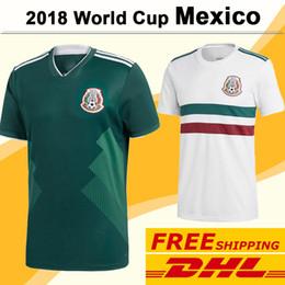 Wholesale Wholesale Jersey Shorts - 2018 World Cup Mexico CHICHARITO Soccer Jerseys FREE DHL Shipping National Team H.LOZANO A.GUARDADO R.JIMENEZ Home Away Men Football Shirts