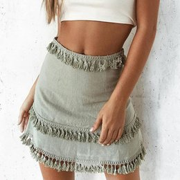 Taste Fly Denim Shorts Frauen Plus Größe 5 XL Schlank Quaste Casual Shorts Röcke Blau KKFY2069