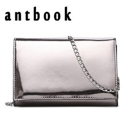 Wholesale girl effects - ANTBOOK New Women Fashion Mini Silver Mirror effect surface Chain Flap Solid Girls Small Shoulder Bags Messenger Bags waterproof