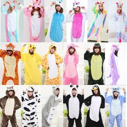 2019 pijamas laranja mulheres Unicornio quente Sleepwear Adulto Inverno animal inteiro pijama Unicorn Animais pyjama pijama femme licorne onesis