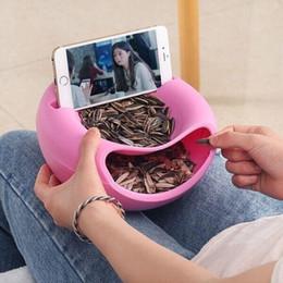 Brand New Cell Phone Tablet Supporto da tavolo Supporto creativo Ciotola forma perfetta per i semi Frutta e noci scatola di immagazzinaggio supporti da