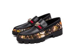 barco sapatos negócio casual Desconto Cabeça de leão de Fundo Inferior Formal Sapatos De Couro Dos Homens de Negócios Casuais Luxo Estilo Italiano Slip-On Wedding Dress Boat Sapatos de Escritório Homens DH2A15