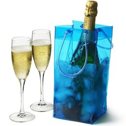 Wholesale ice wholesale - Wine Ice Cooler Rapid Beer Cooler Ice Bag Outdoor Sports Ice Jelly Bag Picnic Chillers Frozen Bag Bottle PVC NNA91