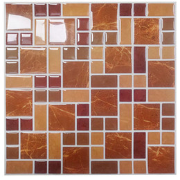 Wholesale Mosaic Tile Backsplash - Wholesale-Wootile Mosaic Wall Tiles Peel and Stick Backsplash for Kitchen,Bathroom Pack of 6 Vinyl Wall Tiles