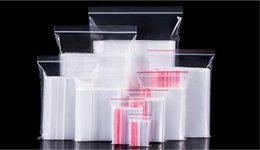 Argentina Bolsas blancas transparentes del almacenamiento de la comida cremallera de la cerradura Bolsas impermeables de la OPP de la Uno mismo-cerradura plástica bolsas modificadas para requisitos particulares 1000pcs / lot Suministro
