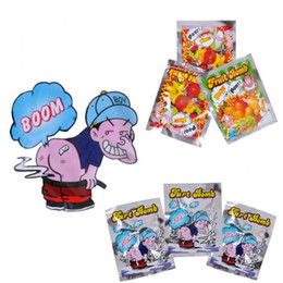 Wholesale funny plastic bags - 10pcs Funny Fart Bomb Bags Stink Bomb Smelly Funny Gags Practical Jokes Fool Toy