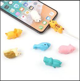 Симпатичные животных дизайн кабель защитная крышка практическая укус кабеля наушники универсальный кабель протектор для мобильного телефона с OPP сумка DLPC1 от