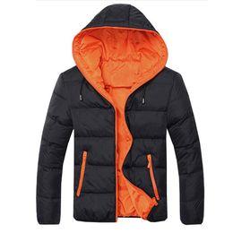 f3f2c9d46b33 männer marke outwear kleidung Rabatt 2017 Winterparkas Männer Casual Warme  Baumwolle Mit Kapuze Gepolsterte Verdicken Outwear