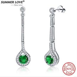 De luxe 925 Sterling Silber Emerald Drop Dangle Boucle D'oreille Vert Waterdrop Boucle D'oreille pour Femmes Fine Jewelry Wedding JewelryY1882701 ? partir de fabricateur