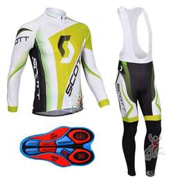 Wholesale Scott Bike Clothing - 2017 Scott Pro Team Cycling Jersey Set High Quality Long Sleeve Black Shirts and Bib Pants Mens Bike Clothes